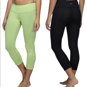LULULEMON Wunder Under Crop II (Reversible)